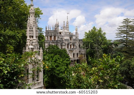 Portugal, the Regaleira palace in Sintra - stock photo