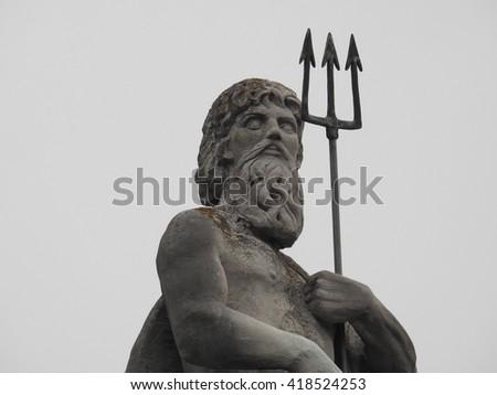 Poseidon Statue - stock photo
