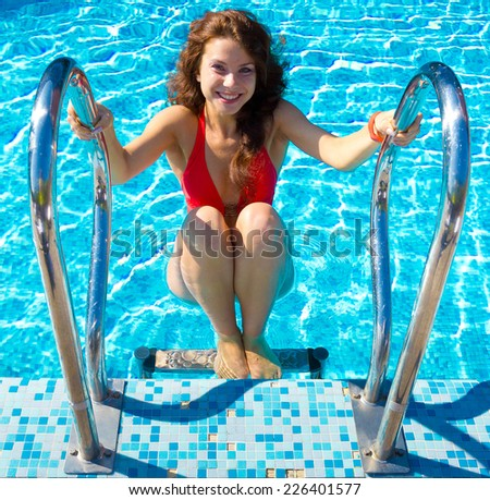 Posing Portrait Hotel  - stock photo