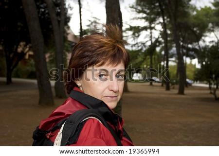 posing woman - stock photo