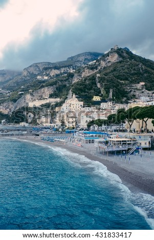 Positano coast, Amalfi , Italy - stock photo