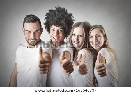 Positive Friends - stock photo