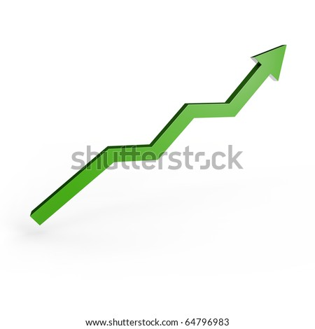 positive graph - stock photo