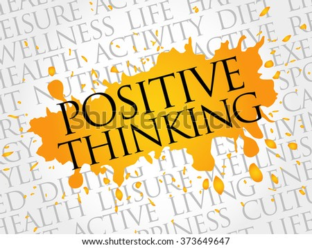 Positive thinking word cloud, health concept - stock photo
