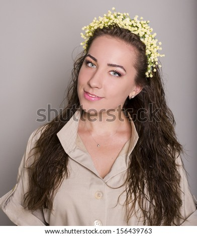 positive woman looking at the camera - stock photo