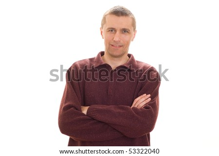 positive young man - stock photo
