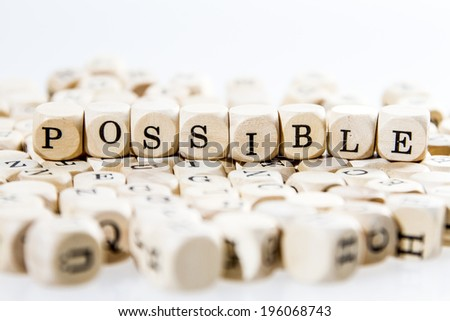 possible word concept - stock photo