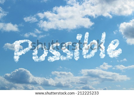 possible word on cloud - stock photo