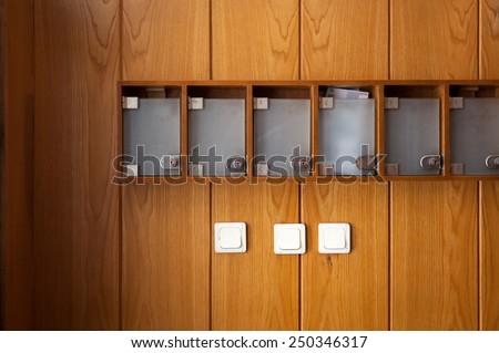 Post boxes - stock photo