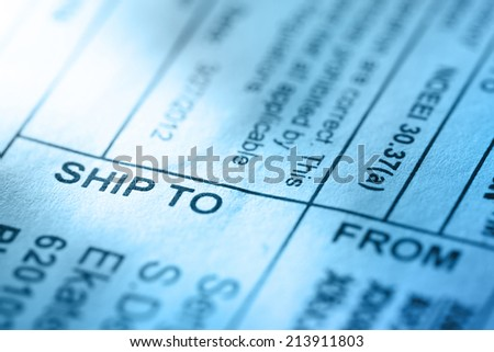 Post envelope label in toning - stock photo