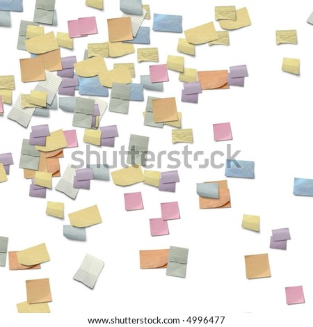 post it border - stock photo