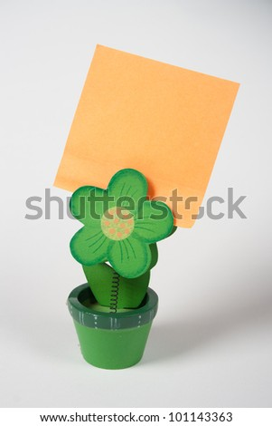 Post it clip support - stock photo