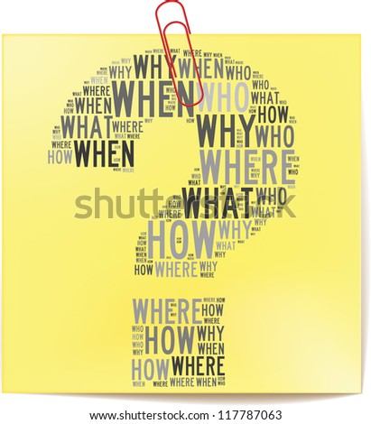 Post it note with investment info-text graphics and arrangement concept on white background (word cloud) - stock photo