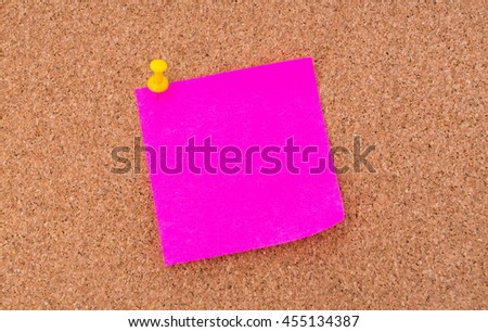 Post it notes on cork board - stock photo