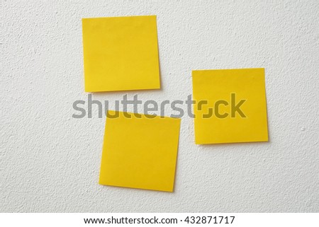 post-it notes on the wall - stock photo