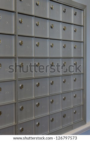 Post Office boxes - stock photo