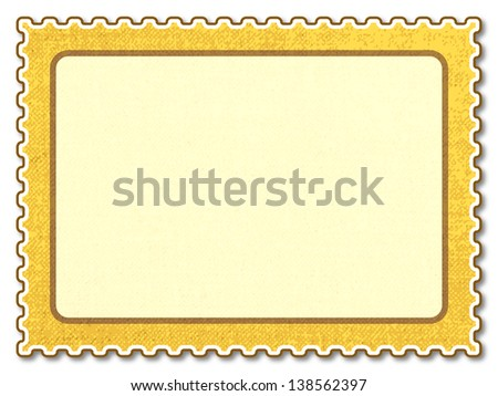 Postage stamp icon for various design - stock photo