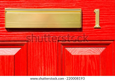 postbox. - stock photo
