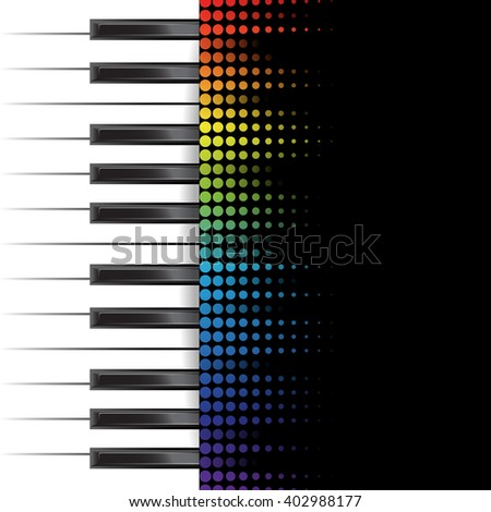 poster background template. Music piano keyboard. Can be used as poster element or icon. - stock photo
