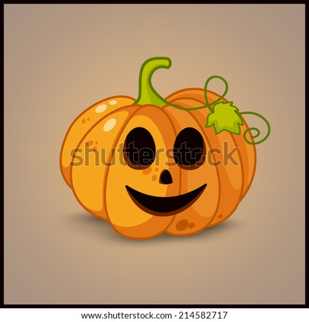 Poster, banner and background for pumpkins for Halloween - stock photo