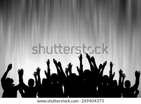 Poster for sports championships and concerts  - stock photo