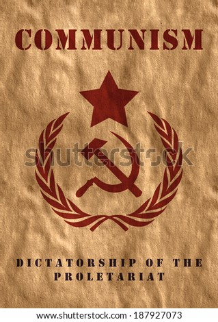 Poster of USSR - stock photo