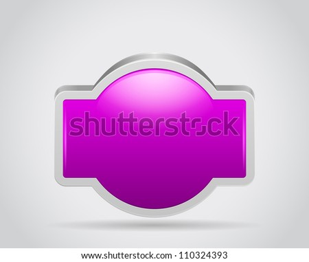 Poster sign bord for your text or design on gray white background - stock photo