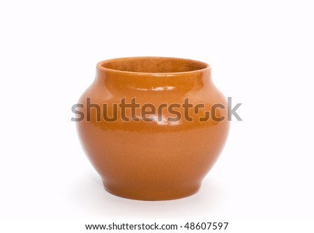 Pot. Look through my portfolio to find more images of the same series - stock photo
