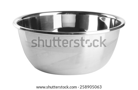 pot. stainless steel pot on background. stainless steel pot on a background - stock photo