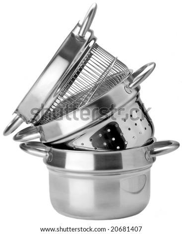 pot to cooking various pasta - stock photo
