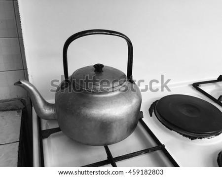 pot water  - stock photo