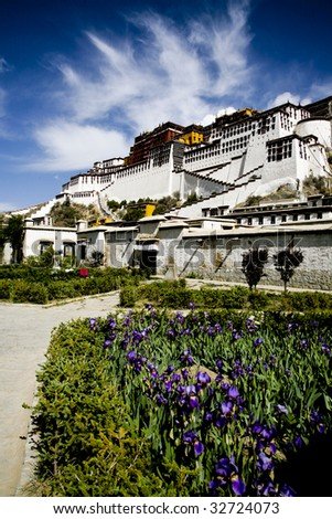 Potala Palace in lhasa, tibet, china - stock photo