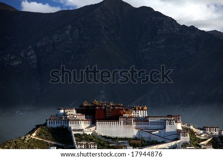 Potala Palace in the morning - stock photo