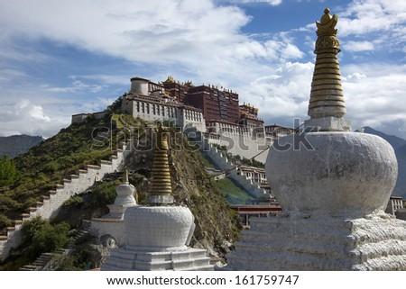 Potala Palace in Tibet, China - stock photo