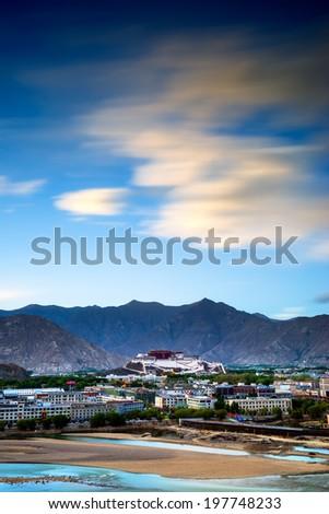 Potala Palace in Tibet of China - stock photo