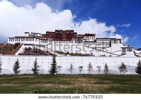 Potala palace, Tibet - stock photo