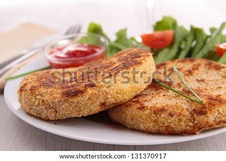 potato cake - stock photo