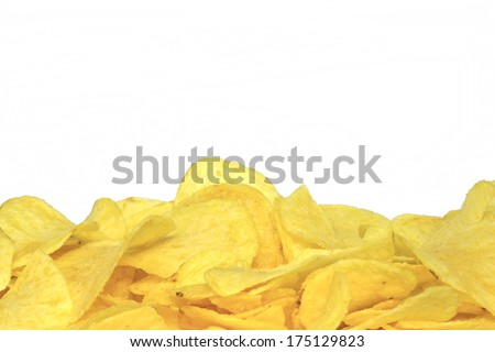 Potato chips In supermarkets for your holiday - stock photo