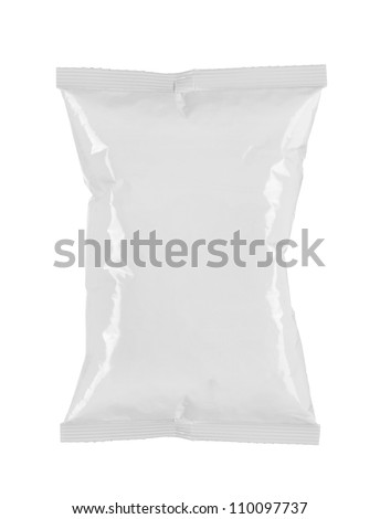 potato chips plastic packaging. for another white packaging visit my gallery - stock photo