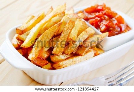 Potato fries - stock photo