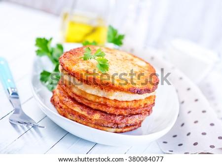 potato pancakes - stock photo