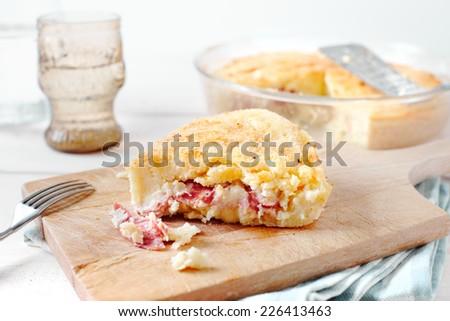 Potato pie (Gateau) - stock photo