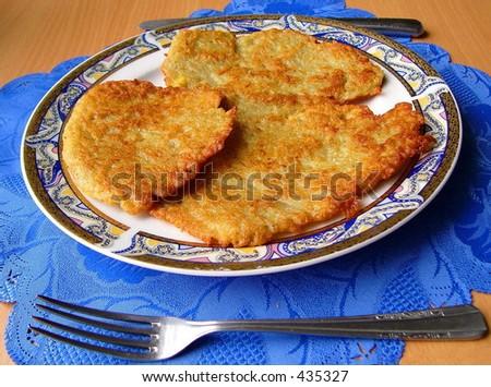 Potato's cakes - stock photo