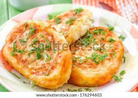 Potato zrazy - stock photo
