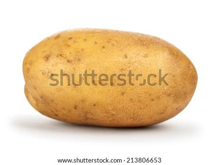 potatoes on isolated white background - stock photo