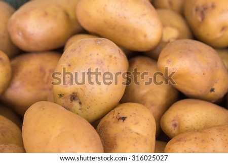 potatoes raw vegetables food  at fresh-food market in thailand - stock photo