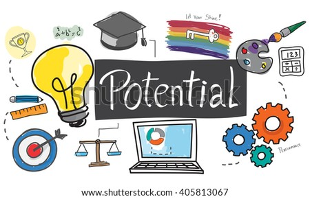 Potential Capacity Motivation Possible Success Concept - stock photo