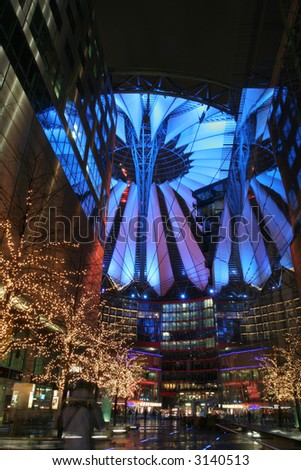 Potsdamer platz (sony center) in Berlin, Europe. - stock photo