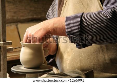 Pottery Making 2 - stock photo