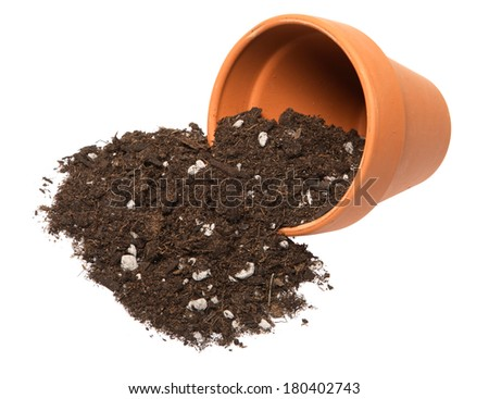 Pot of soil stock photos images pictures shutterstock for Clay potting soil
